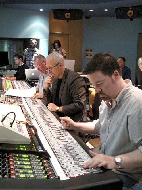 Matt Still and James Newton Howard at Abbey Road