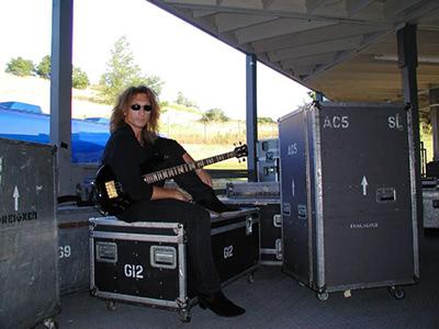 Bruce backstage