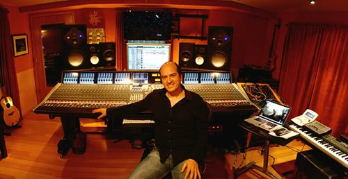 Rafa Sardina in the main mixing room